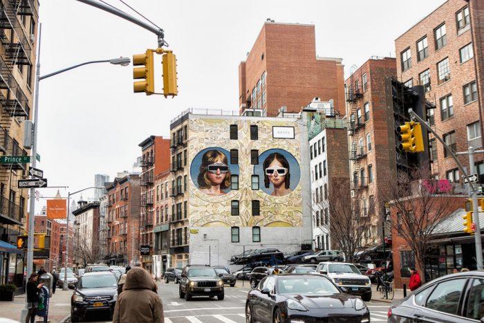 Gucci 'Art Walls' en NY & Milán