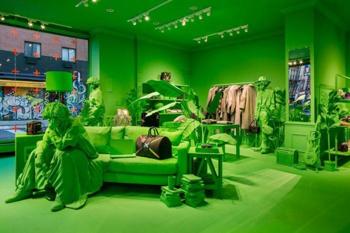 Louis Vuitton Neon Green FW19 Pop-Up New York